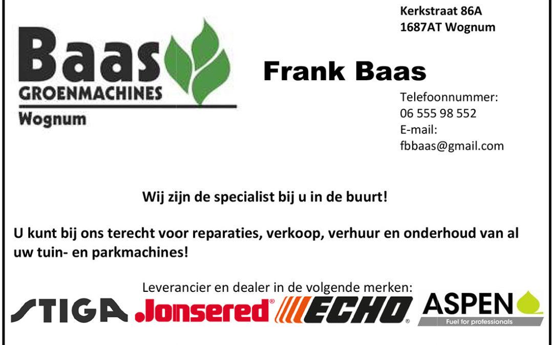 Advertentie Baas Groenmachines